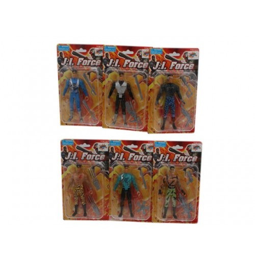 Ji Force Figurines W/ Acc