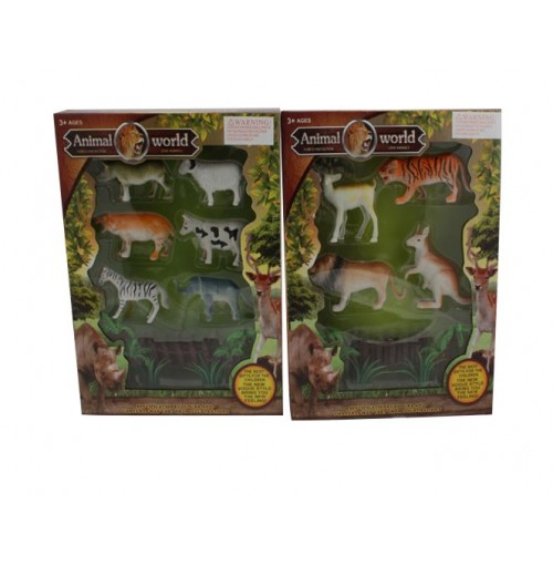 Animal World Figurines W/Accessories