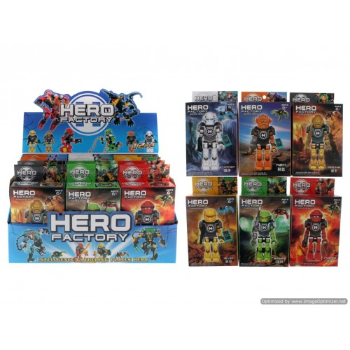 Hero Factory Small Figurine Building Block Doll In Display