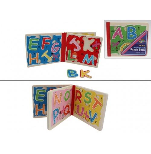 Wooden Puzzle Book Alphabet