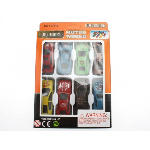 Cars 8pc Die Cast In Window Box