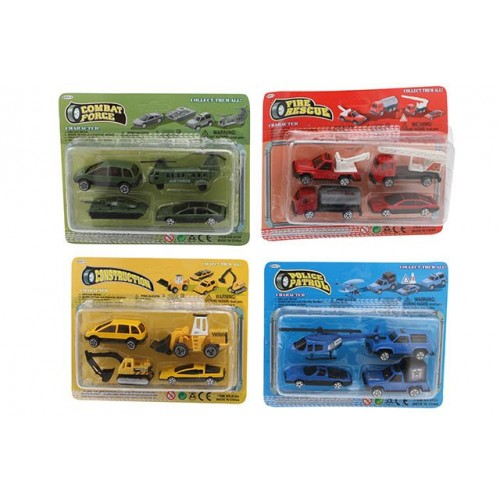 Workforce Diecast Vehicles 4 Pcs 4 Asst