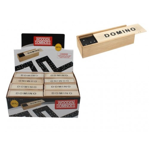 Dominoes In Wood Box In Display Box