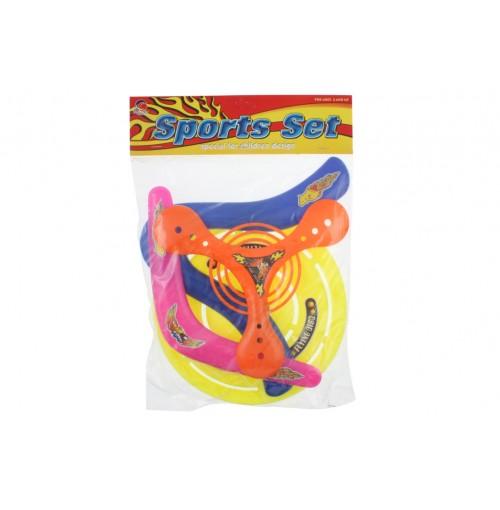 Boomerang + Frisbee Set 4pc