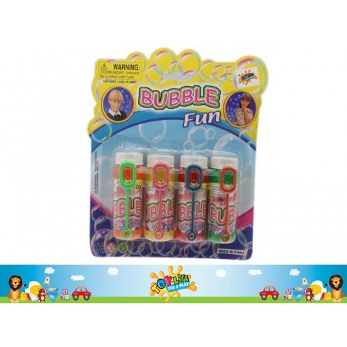 Bubble Blower In Bottle 4pk 55ml