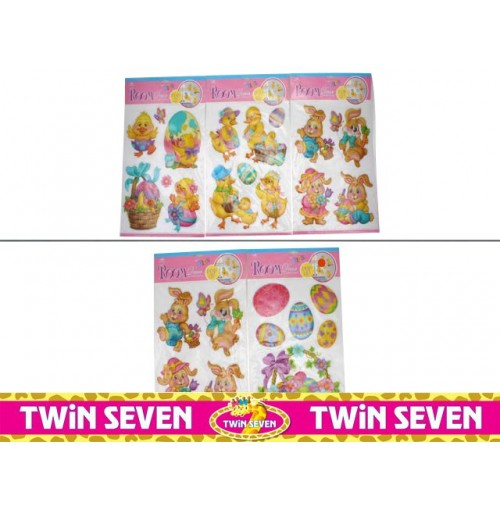 Easter Pop Up Wall Stickers Lrg
