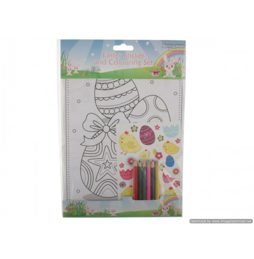 Easter Sticker & Colouring Set