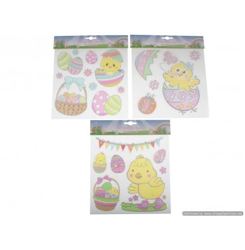 3d Metallic Easter Sticker Set