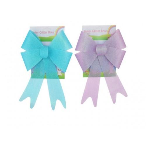 Easter Glitter Bow 22.9x33cm