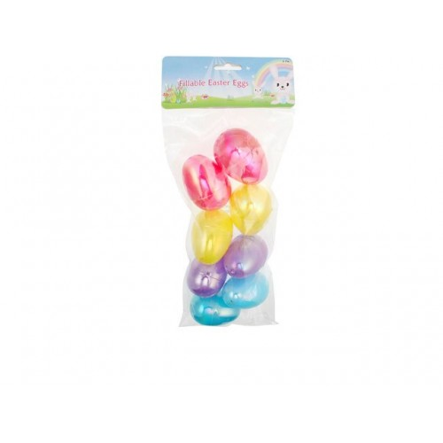 Easter Fillable Eggs 8pk Plastic
