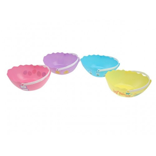 Easter Egg Basket Plastic Lrg