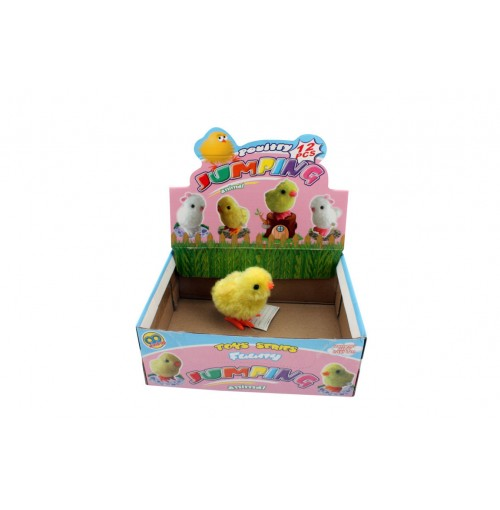 Jumping Chick Wind Up In Disp Box