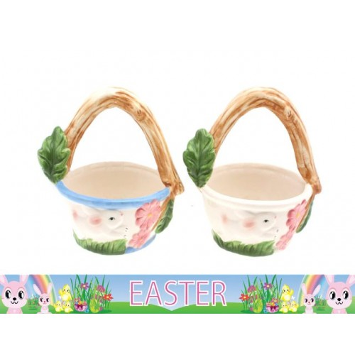 Easter Treat Basket Ceramic