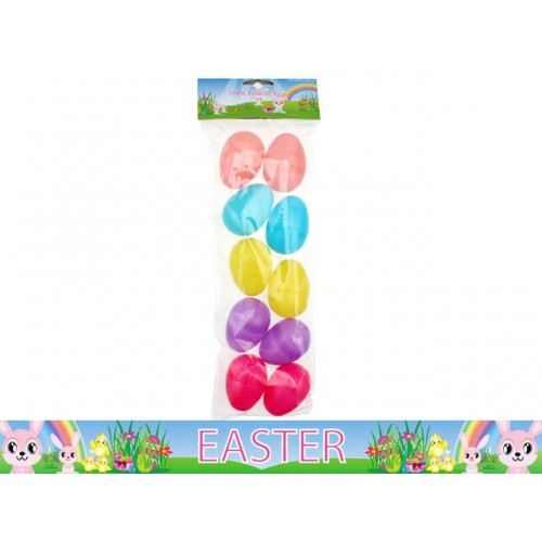 Easter Fillable Eggs 10pk 5.5 Cm Colrs