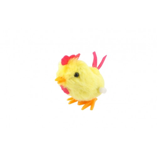 Jumping Chicken Windup 10cm In Disp Box