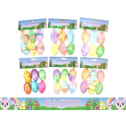 Foameaster Eggs Deco 6pk 5.5cm W/Ribbon