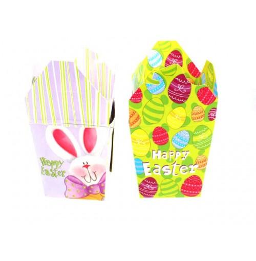 Easter Treat Box W/Handle Lrg