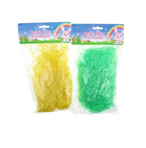 Easter Grass For Baskets 30gm Yellow/Green
