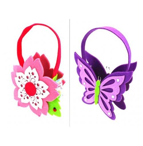 Easter Felt Carry Bags Butterfly/Flower
