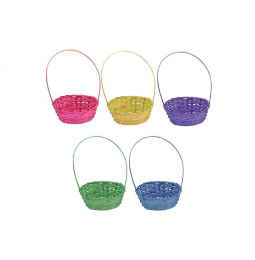 Easter Bamboo Basket Plain Oval 23x8.5cm