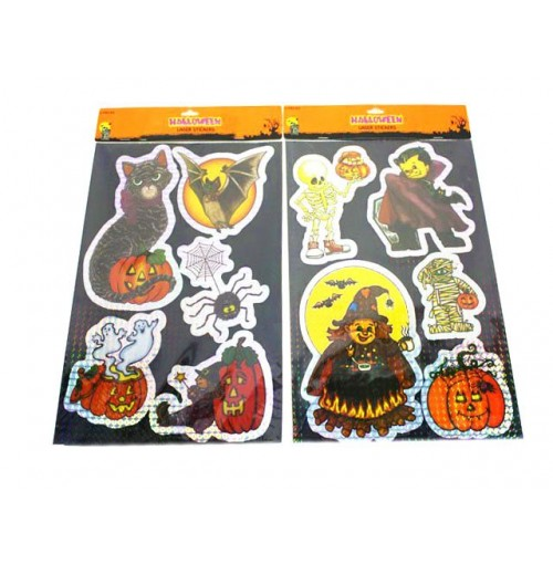 Halloween Laser Sticker Set 5pc