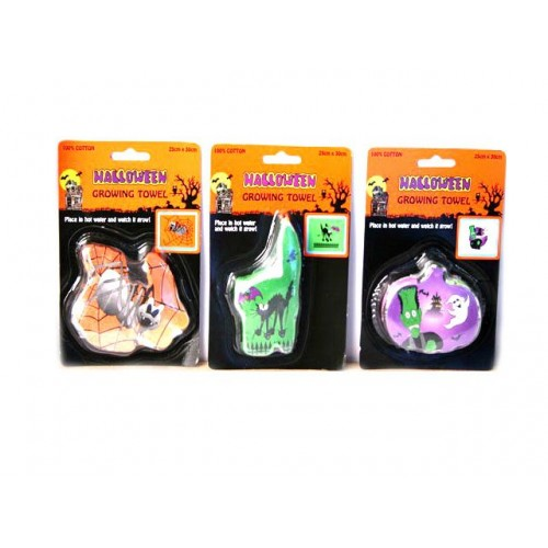 Halloween Compressed Towel 25x30cm
