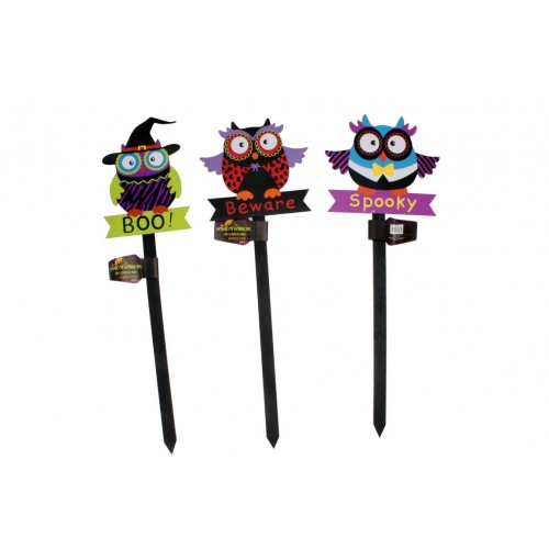 Halloween Owl Garden Pick 50cm