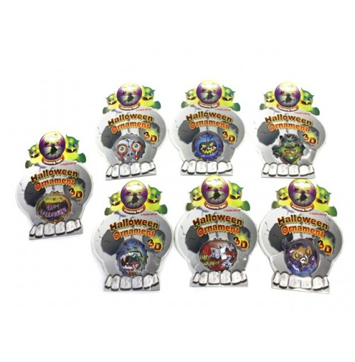 Halloween Stickers Flashing Puffy Ornaments