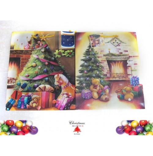 Gift Bag Med Tree L/Scape 2 Asst Design