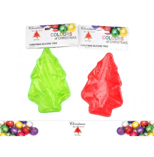 Xmas Tree  Mould Silicone Green And Red
