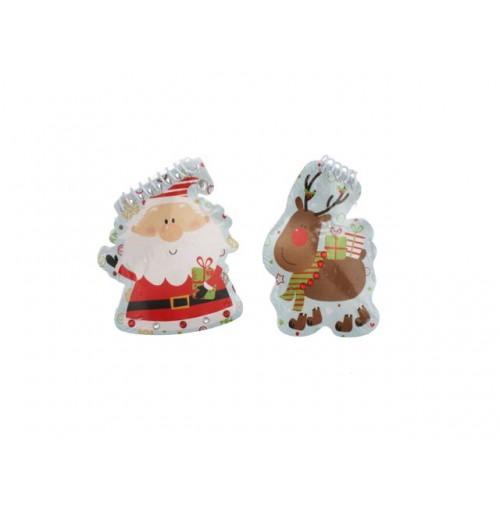 Xmas Notebook Santa &Amp; Reindeer In Display