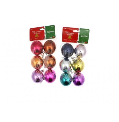 Xmas Glitter Flower W/Bells 3pk 16.5x16.5cm 5 Asst Clrs