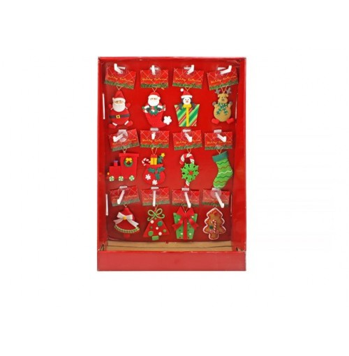 Xmas Hanging Ornament 12 Style 9cm In Pdq