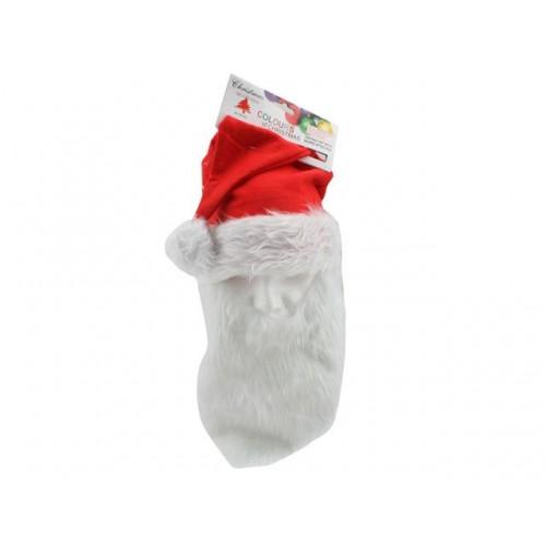 Hat Santa W/Beard Attached