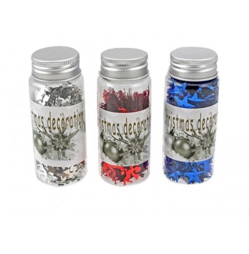 Xmas Confetti In Bottle 40gm In Pdq 4asst