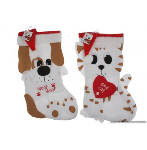 Xmas Dog & Cat Stocking 43x30cm