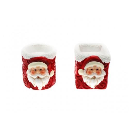 Santa Ceramic Candle Holder