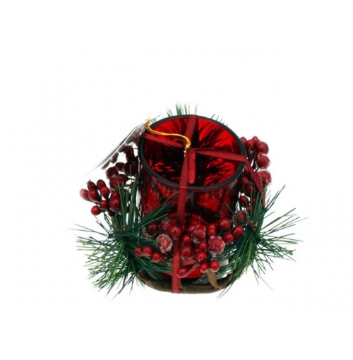 Tealight Candle Holder Xmas Tree Scented W-T/Light