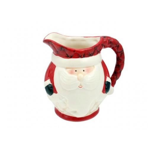Santa Milk Jug 10x10x12cm Traditional