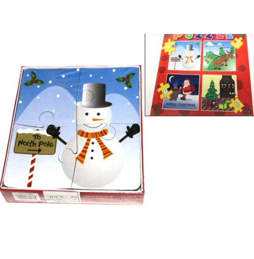 Puzzle 4 Assorted Xmas Des
