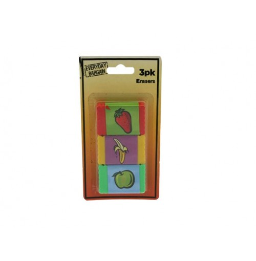 Erasers 3pk 4.5x3cm