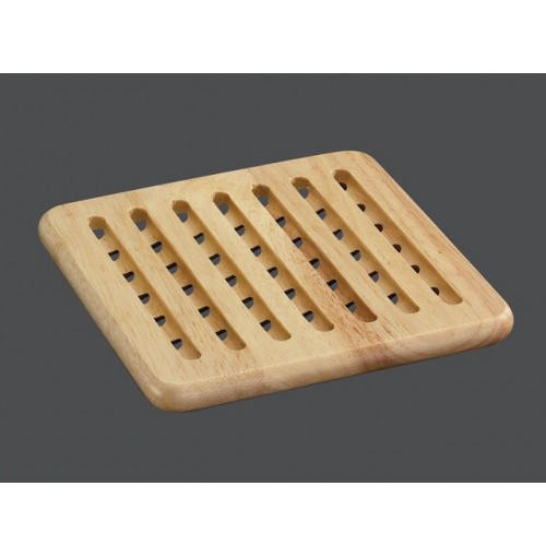 Square Wood Trivet 19x19cm