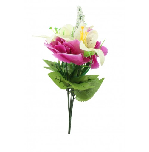 Rose &Amp; Lily Bunch 7head 40cm