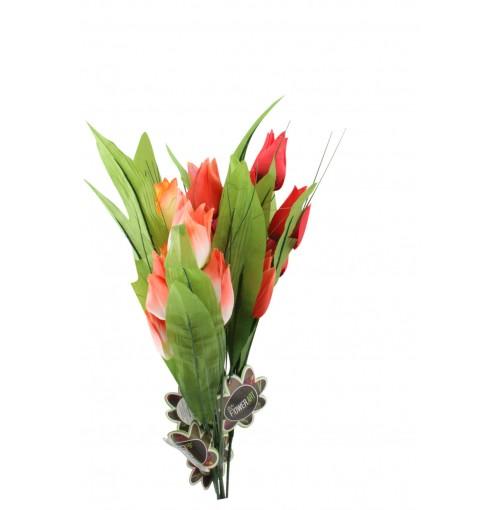 Tulips 4 Head 67cm 6 Asst