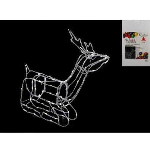 Reindeer Sitting 100 Led Solar 75x15x62cm