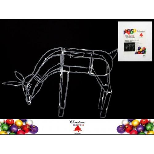 Reindeer Feeding 100 Led Solar 73x15x46cm