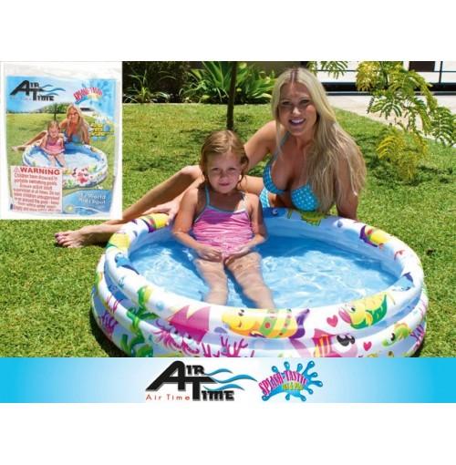 Kids 3 Ring Pool Wht Sea Theme 107x25cm