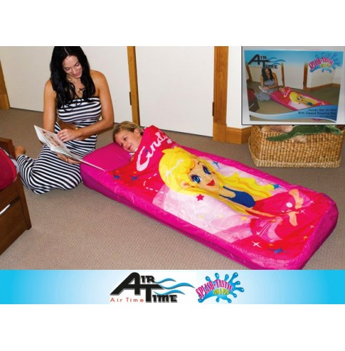 Candy Star Air Bed W/Sleeping Bag 157x66x23cm
