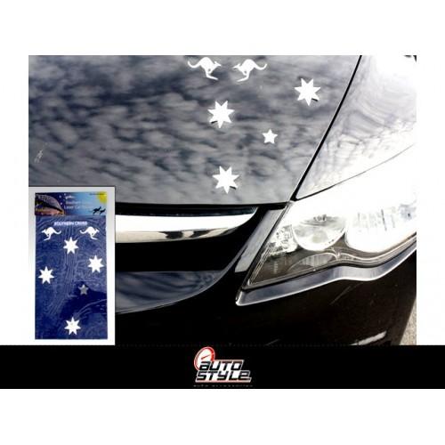 Car Sticker Southern Cross Laser Rainbow 100%wp 30x19.5cm