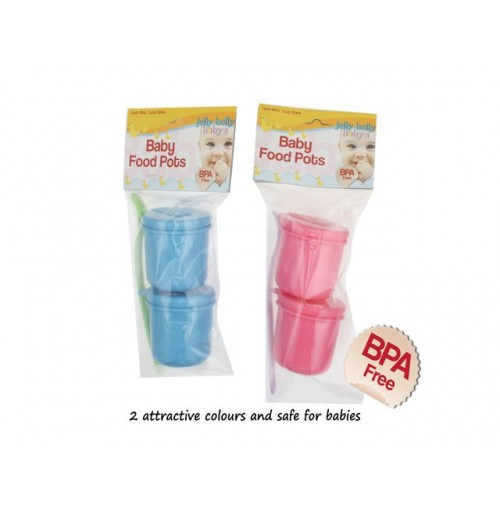 Baby Food Pots 2pk With Spoon